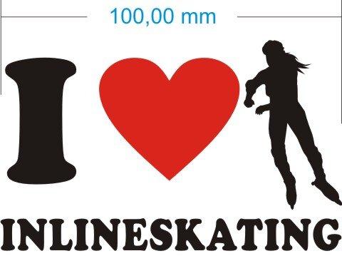 Ich liebe Inlineskating - I Love Inlineskating Aufkleber MO02