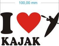 Ich liebe Kajak - I Love Kajak Aufkleber