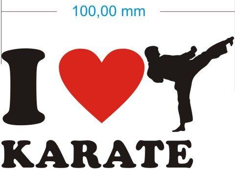 Ich liebe Karate - I Love Karate Aufkleber
