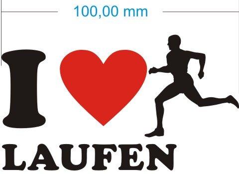 Ich liebe Laufen Joggen - I Love Joggen Aufkleber