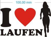 Ich liebe Laufen Joggen - I Love Joggen Aufkleber MO02