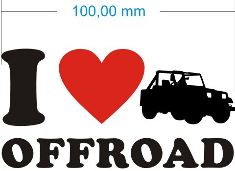 Ich liebe Offroad - I Love Offroad Aufkleber