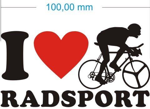 Ich liebe Radsport - I Love Radsport Aufkleber MO02