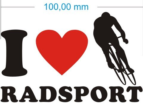 Ich liebe Radsport - I Love Radsport Aufkleber MO03