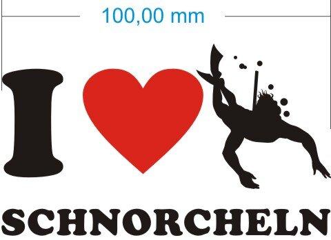 Ich liebe Schnorcheln - I Love Schnorcheln Aufkleber
