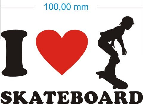 Ich liebe Skateboard - I Love Skateboard Aufkleber