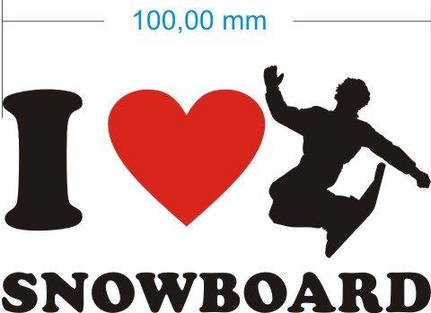 Ich liebe Snowboard - I Love Snowboard Aufkleber MO02
