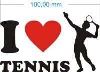 Ich liebe Tennis - I Love Tennis Aufkleber MO02