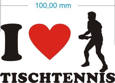 Ich liebe Tischtennis - I Love Tischtennis Aufkleber