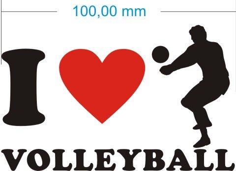 Ich liebe Volleyball - I Love Volleyball Aufkleber