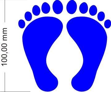 Füße Aufkleber für Auto Wand Boden- Fußspur Fußabdrücke