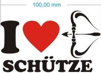 I Love Sagittarius Aufkleber- Ich liebe Schütze...
