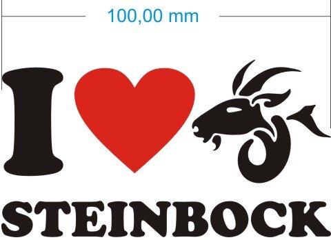 I Love Capricorn Aufkleber- Ich liebe Steinbock Sternzeichen