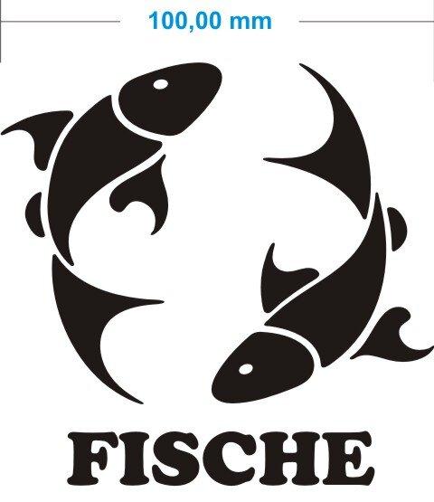 Sternzeichen Fische Aufkleber Pisces Zodiac Sign Autoaufkleber