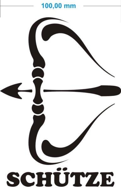 Sternzeichen Schütze Wann sternzeichen schütze aufkleber sagittarius zodiac sign autoaufkl
