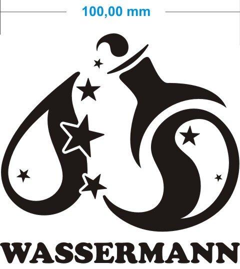 Sternzeichen Wassermann Aufkleber Aquarius Zodiac Sign Autoaufkleber