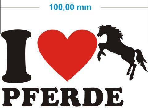 I Love Pferde Aufkleber- Ich liebe Pferde Autoaufkleber