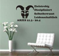 Sternzeichen Wandtattoo Widder Aries Zodiac Sign