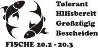 Sternzeichen Wandtattoo Fische Pisces Zodiac Sign