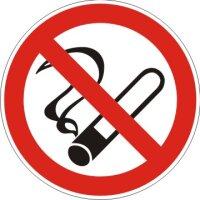 Aufkleber Rauchen Verboten rot/weiß