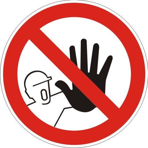Aufkleber Zutritt für Unbefugte Verboten rot/weiß