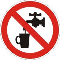 Aufkleber kein Trinkwasser rot/weiß