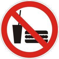 Aufkleber Essen und Trinken Verboten rot/weiß