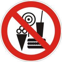 Aufkleber Essen, Getränke und Eis Verboten...