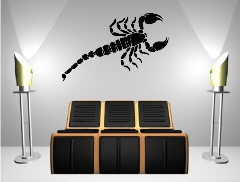 skorpion wandtattoo tapeten deko m 07. Black Bedroom Furniture Sets. Home Design Ideas