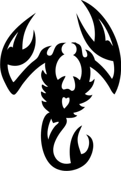 Skorpion Wandtattoo Tapeten Deko M-12