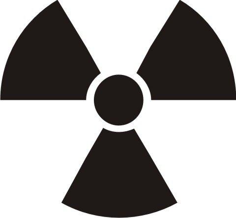 Aufkleber Radioaktiv - Atom