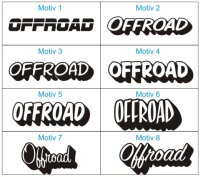 Offroad Aufkleber/ Auto-Tuning Racingaufkleber