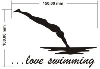 Aufkleber ...love swimming