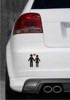 Hochzeitspaar Aufkleber-Piktogramm