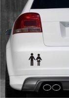Schwangere Frau und Ihr Ehemann Aufkleber-Piktogramm