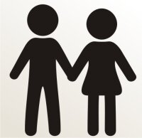 Tochter und Sohn Aufkleber-Piktogramm