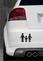 Vater, Mutter und Sohn Aufkleber-Piktogramm