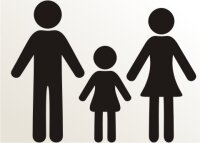 Vater, Mutter und Tochter Aufkleber-Piktogramm