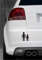 Mutter und Sohn Aufkleber-Piktogramm