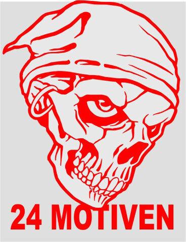 Totenkopf Skull Aufkleber Sticker 24 Verschiedene Motive