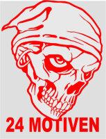 Totenkopf Skull Aufkleber, Sticker 24 verschiedene Motive