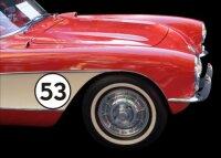 Zweifarbige Startnummer Aufkleber, Rennnummer, Auto Raly Styling