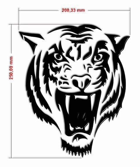 Aufkleber Tiger für Toilettendeckel