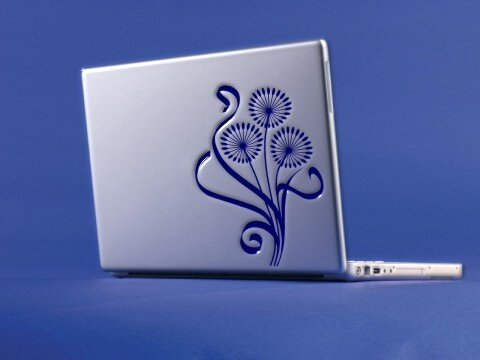 """Pusteblume Aufkleber für Laptop, Notebook ab 15,4""""  Blumen Aufkleber"""