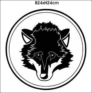 Wolfskopf Sticker Wolf Kopf Aufkleber Wolf M2