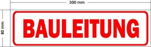 Magnetschild BAULEITUNG