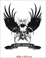 Skull Totenkopf Wandtattoo mit wunschtext