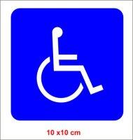 Rollstuhlfahrer Aufkleber, Behinderter Autoaufkleber