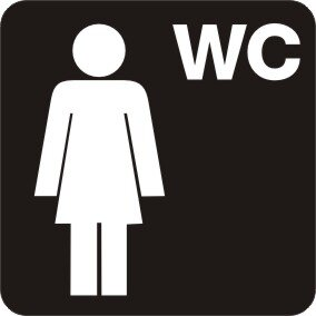 WC Damen Sanitär Aufkleber