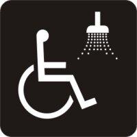 Behindertengerechte Dusche Sanitär Aufkleber
